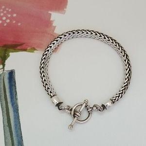Jewelry - 🌸 Sterling Silver Wheat Rope Bracelet